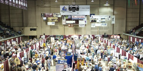 A packed trade show