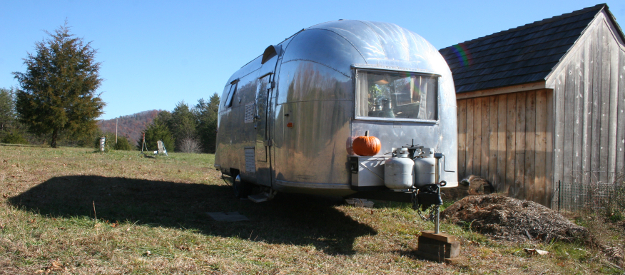 Josh Rogan's Airstream for travelling the country