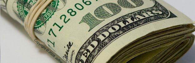 A roll of $100 bills