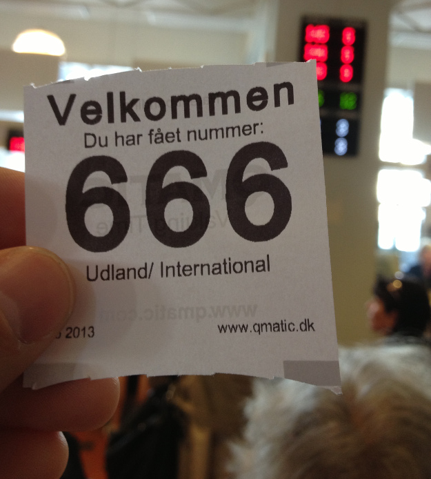 Line ticket at the Copenhagen Train Station